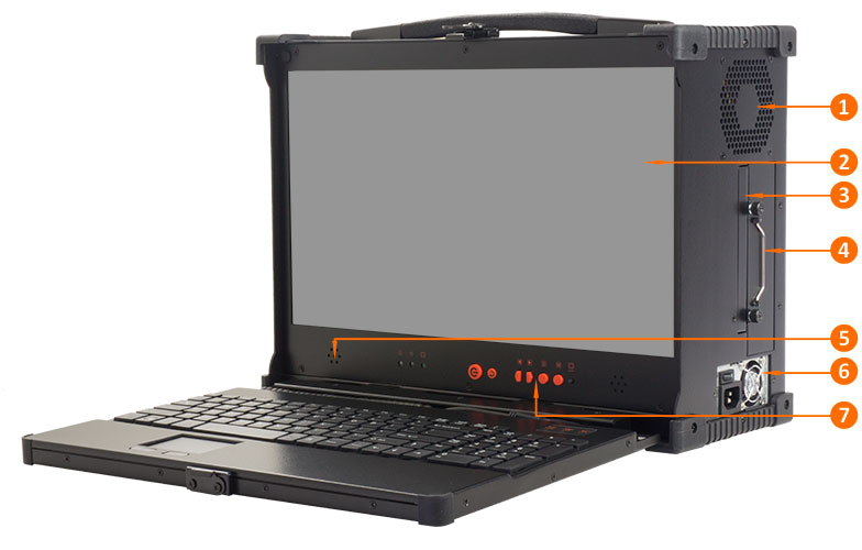 MPC-1700 ruggedized portable computer uses COTS PC components