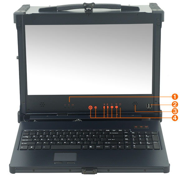 Ruggedized portable computer MPC-1700 has a 17.3 inch high definition LCD