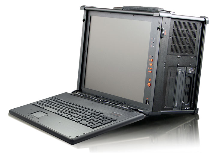 MPC-9000 ruggedized portable PC has a anodized aluminum alloy enclosure