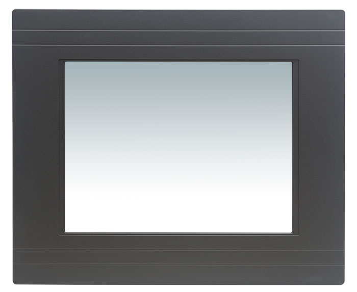 Industrial HMI system PPC-120 is IP-65 rated. Touch screen PC supports two PCI expansion slots. Panel computer for control interface, factory and machine automation, human machine interface.