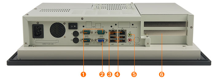 Industrial panel PC PPC-120 has an Intel Core 2 Duo processor, two gigabit ethernet ports