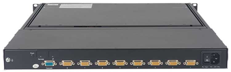 KVM switch rack console with LCD monitor keyboard drawer, DKM-1000 series
