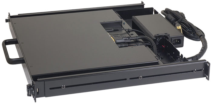 LCD monitor keyboard drawer, DKM-SX17U and DKM-SX17P rackmount KVM consoles.